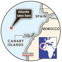 Атлантида на картах Google