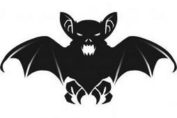 Как нарисовать летучую мышь на Хэллоуин