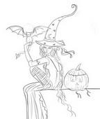 Как нарисовать ведьму на Хэллоуин