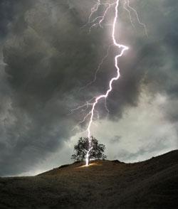 Шаровая молния: фото очевидцев